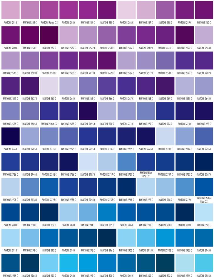 Pantone Color Chart Blue Vatozozdevelopment