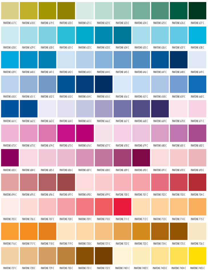 Pms Color Chart Free Pantone Matching System Color Chart